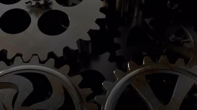 Rotating old rusty gears: Stock Video