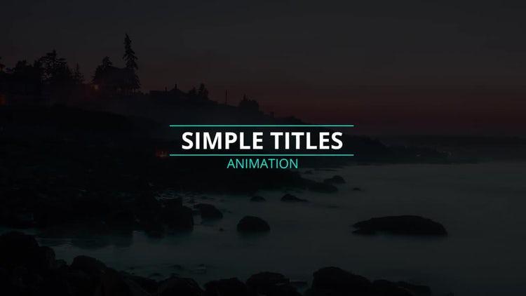 Motion Titles: Premiere Pro Templates