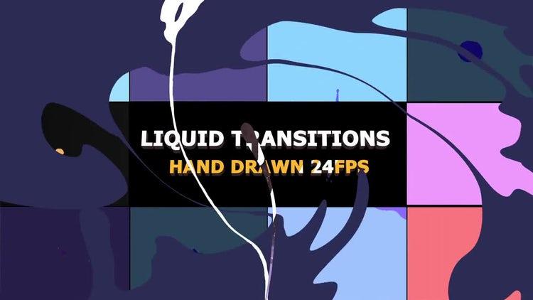 Liquid Motion Transitions 24 fps: Stock Motion Graphics