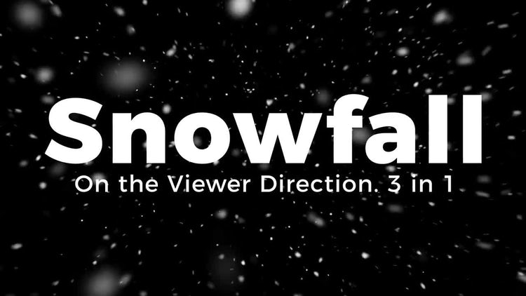 Snowfall. On the Viewer Direction.: Motion Graphics