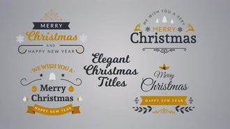 Elegant Christmas Titles: After Effects Templates