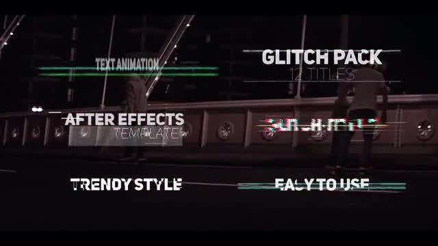 Glitch Titles Pack: After Effects Templates