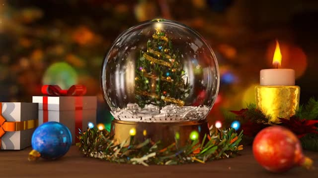 Christmas Snow Globe: Stock Motion Graphics