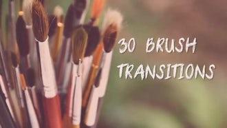 30 Brush Transitions: Premiere Pro Templates