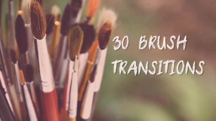30 Brush Transitions: Premiere Pro Templates