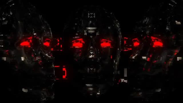 Cyber Face VJ Loop : Stock Motion Graphics