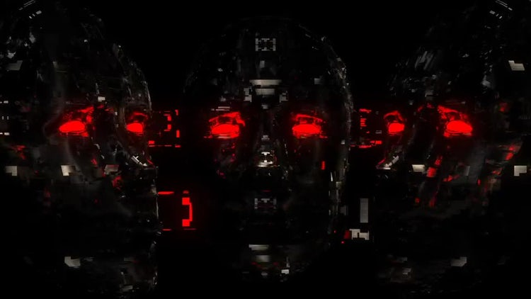 Cyber Face VJ Loop : Motion Graphics