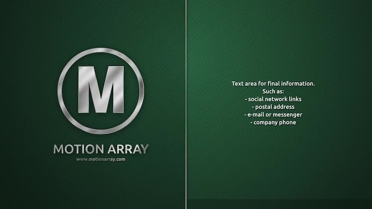 Corporate Steel Frames: After Effects Templates