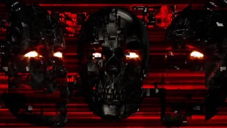 Cyber Face VJ Loop: Motion Graphics