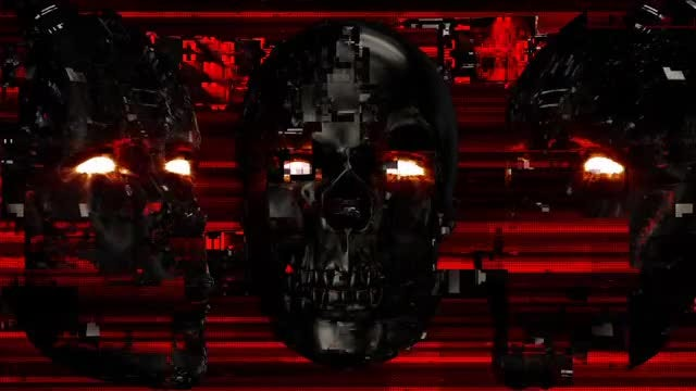 Cyber Face VJ Loop: Stock Motion Graphics