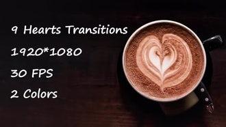 Hearts Trahsitions: Stock Motion Graphics