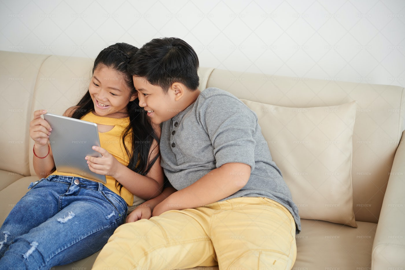 Watching Movie Together: Stock Photos