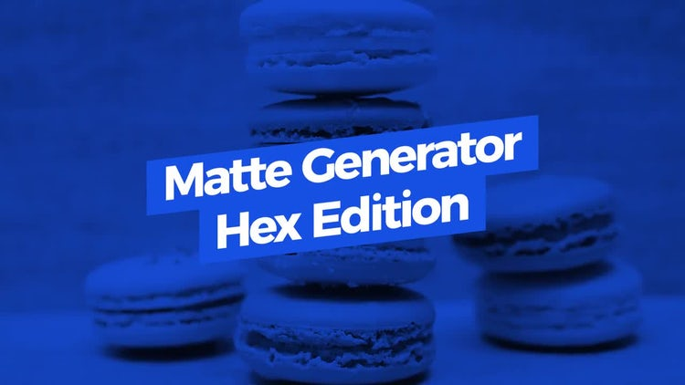 Matte Generator. Hex Edition: Motion Graphics Templates
