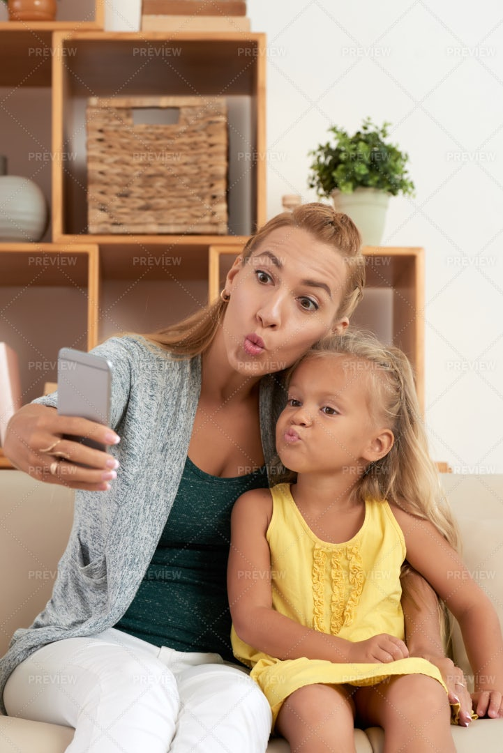 Duck Face Selfie: Stock Photos