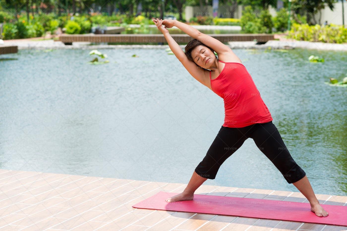 Stretching Woman: Stock Photos