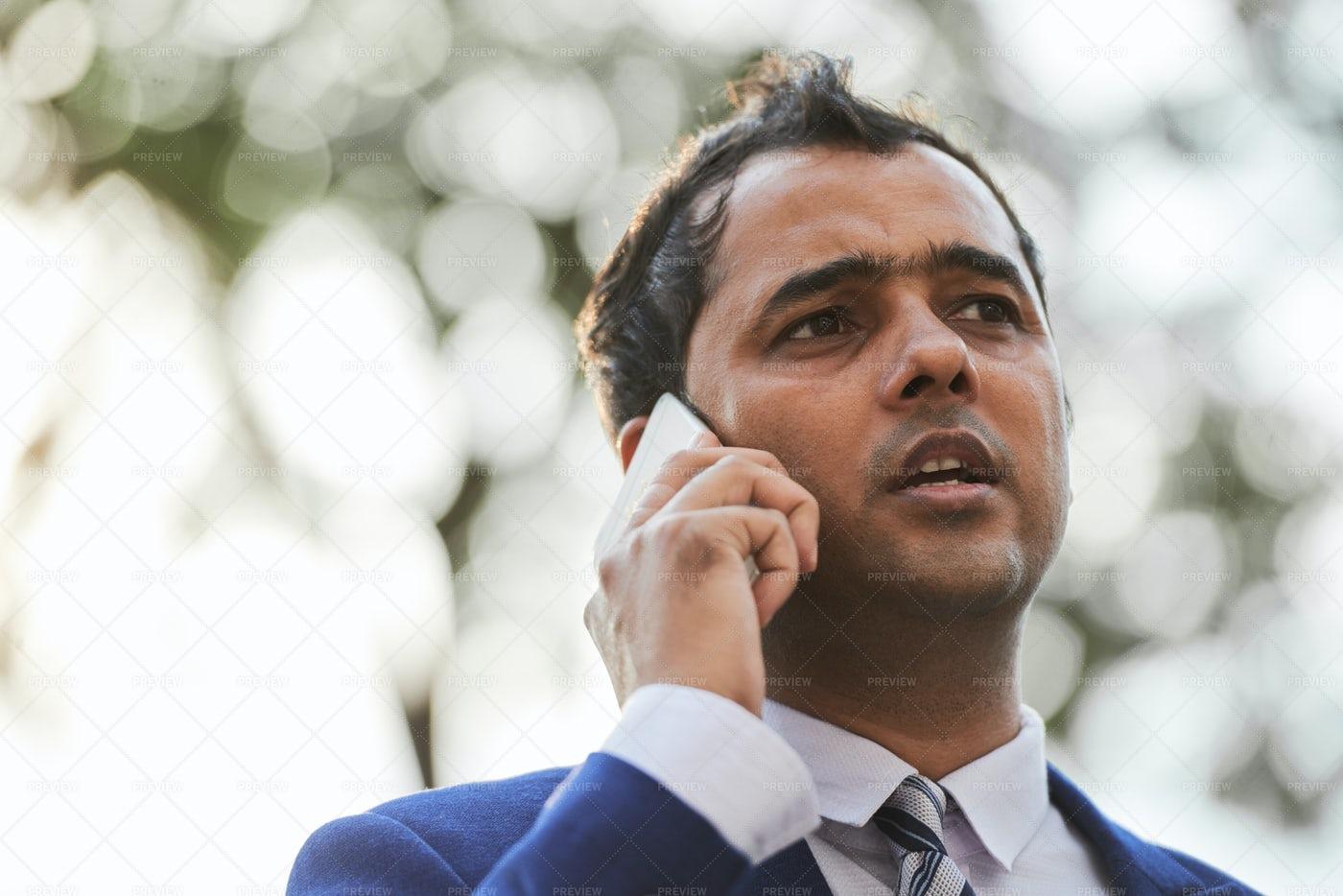 Businessman Talking On The Phone: Stock Photos