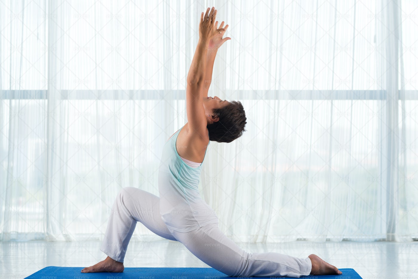 Stretching Exercise: Stock Photos