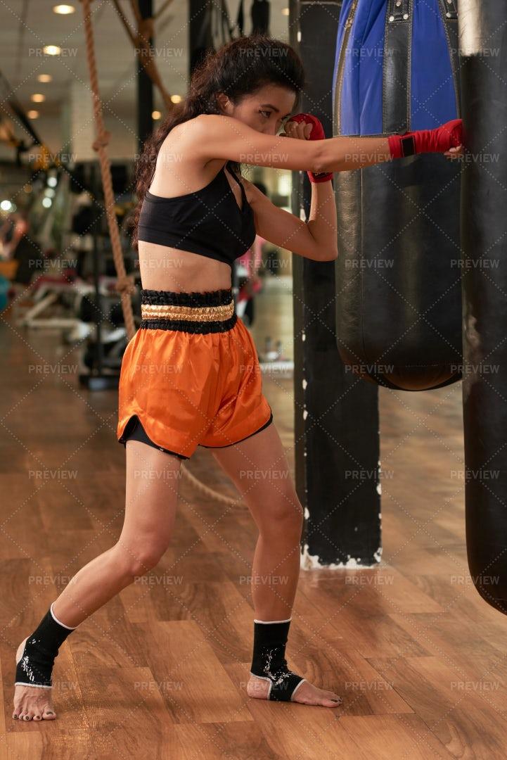 Punching Bag Training: Stock Photos