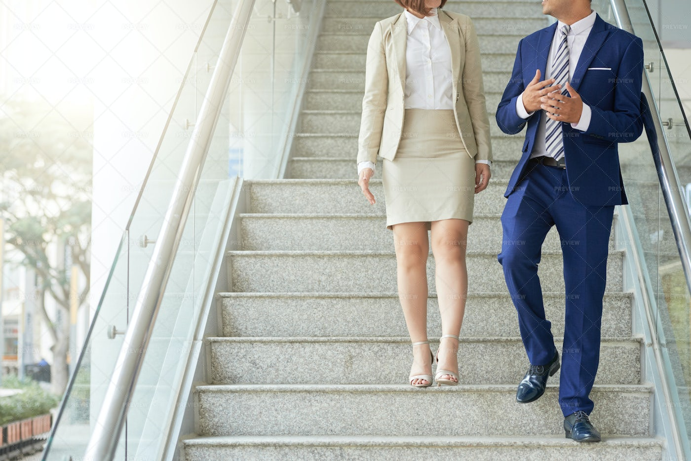 Business People Walking Down The...: Stock Photos