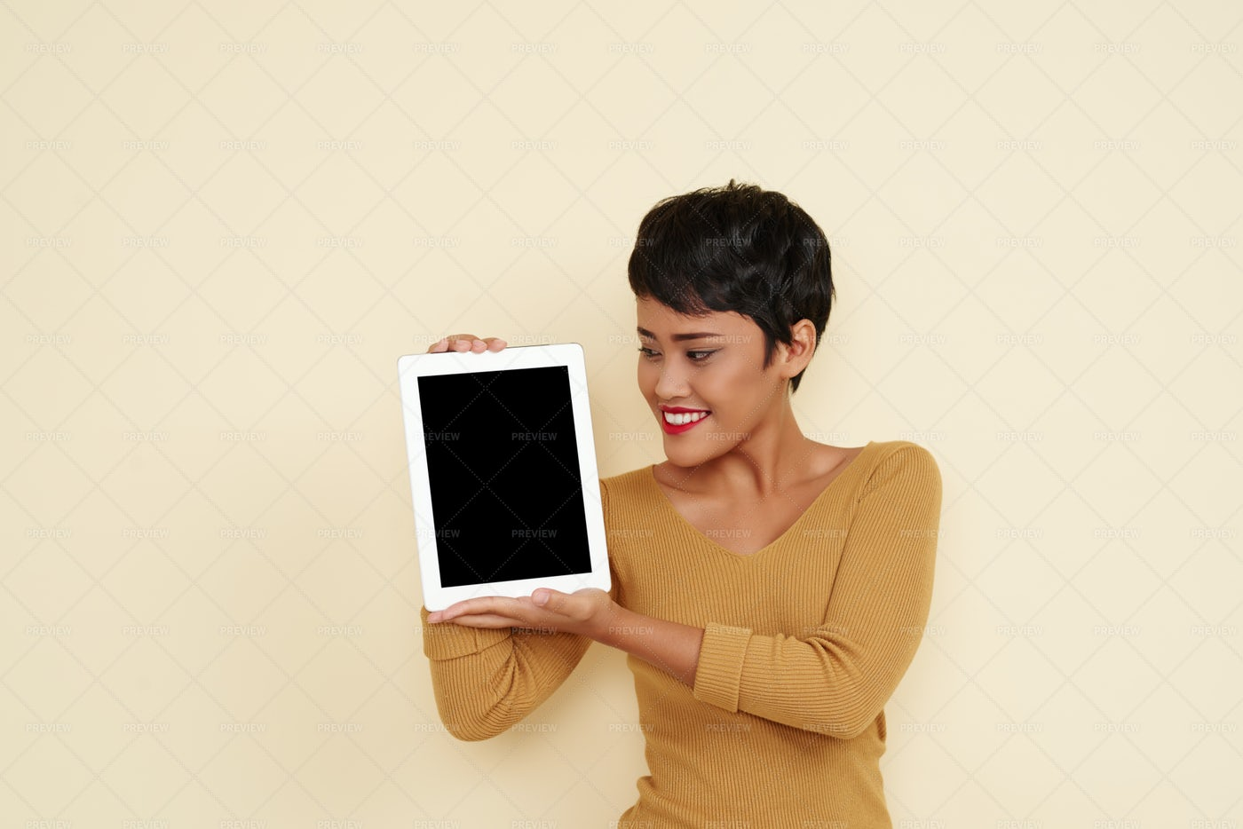 Showing Tablet Computer: Stock Photos