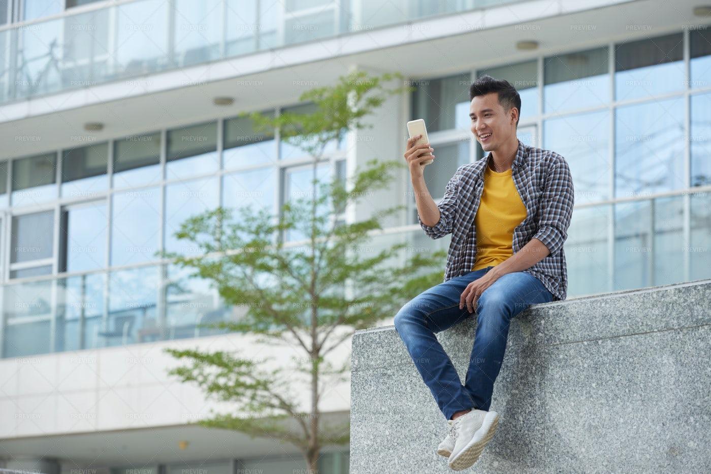 Posing For Selfie: Stock Photos