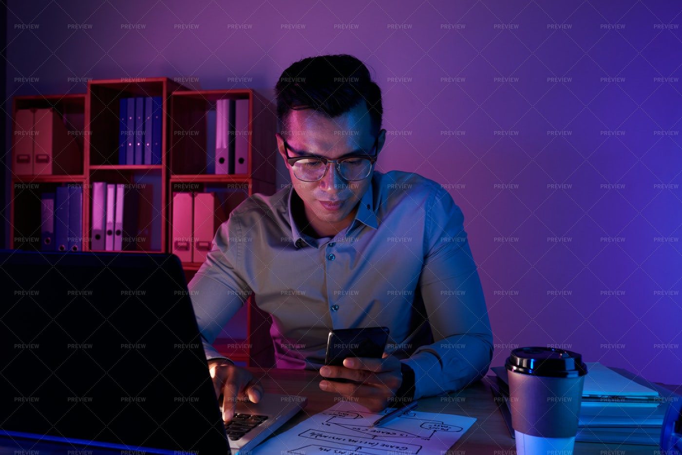 Working Late: Stock Photos