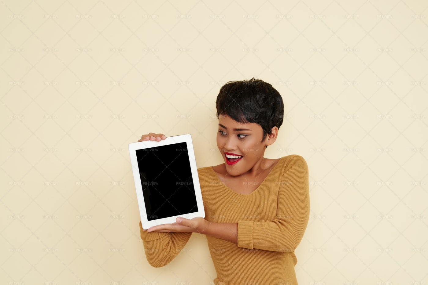 Girl With Tablet Computer: Stock Photos