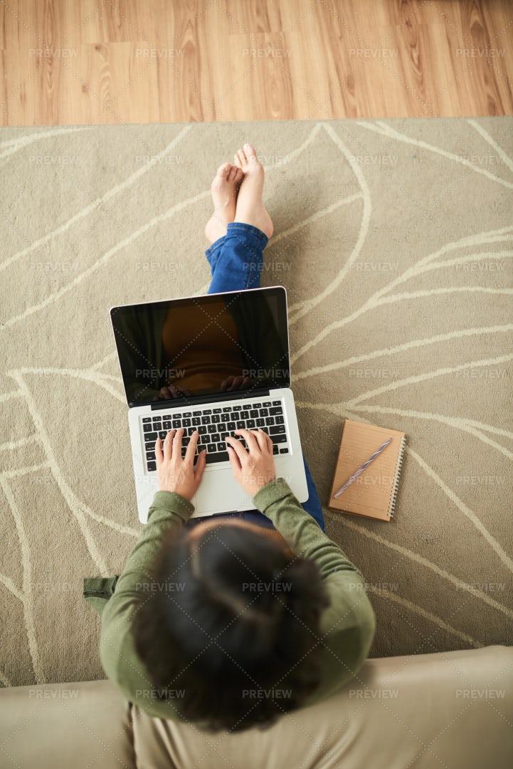 Woman With Laptop: Stock Photos