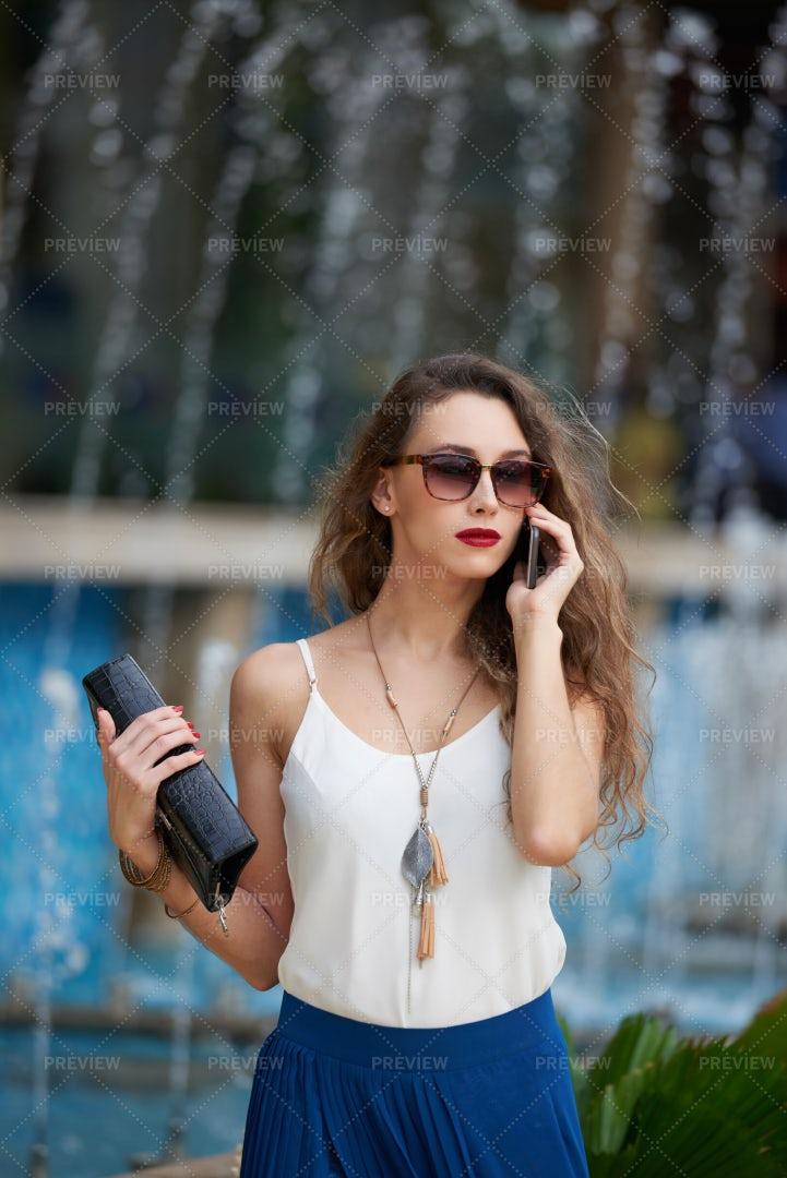 Calling Lady: Stock Photos