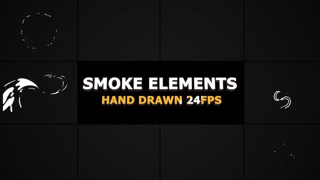2D FX SMOKE Elements s4 fps: Stock Motion Graphics