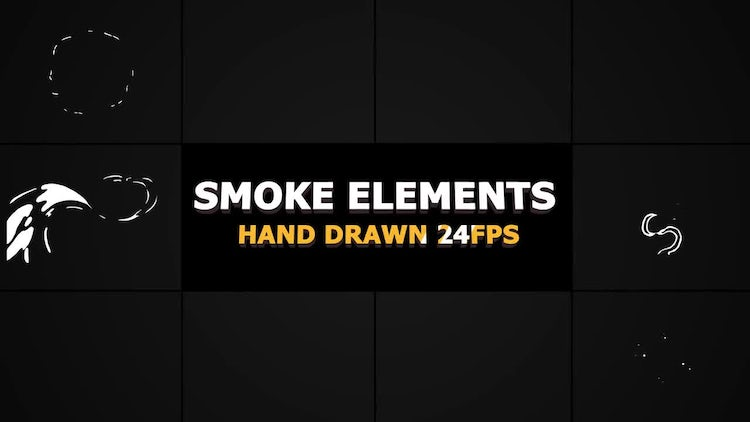 2D FX SMOKE Elements s4 fps: Motion Graphics