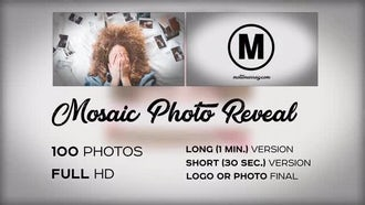 Mosaic Photo Reveal: Premiere Pro Templates
