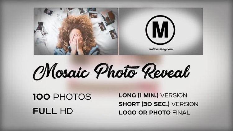Mosaic Photo Reveal: Premiere Pro Templates