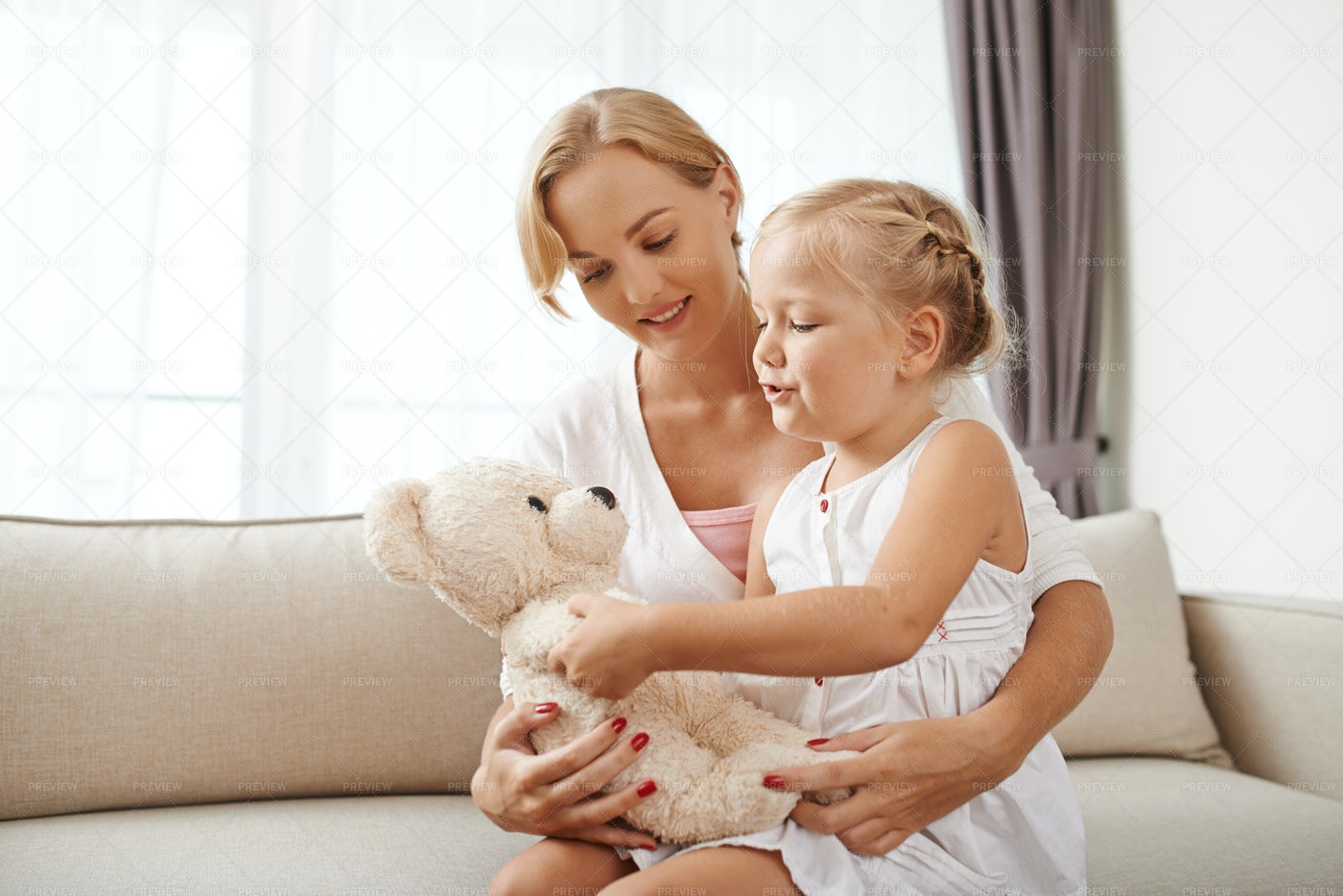 Playing With Daughter: Stock Photos