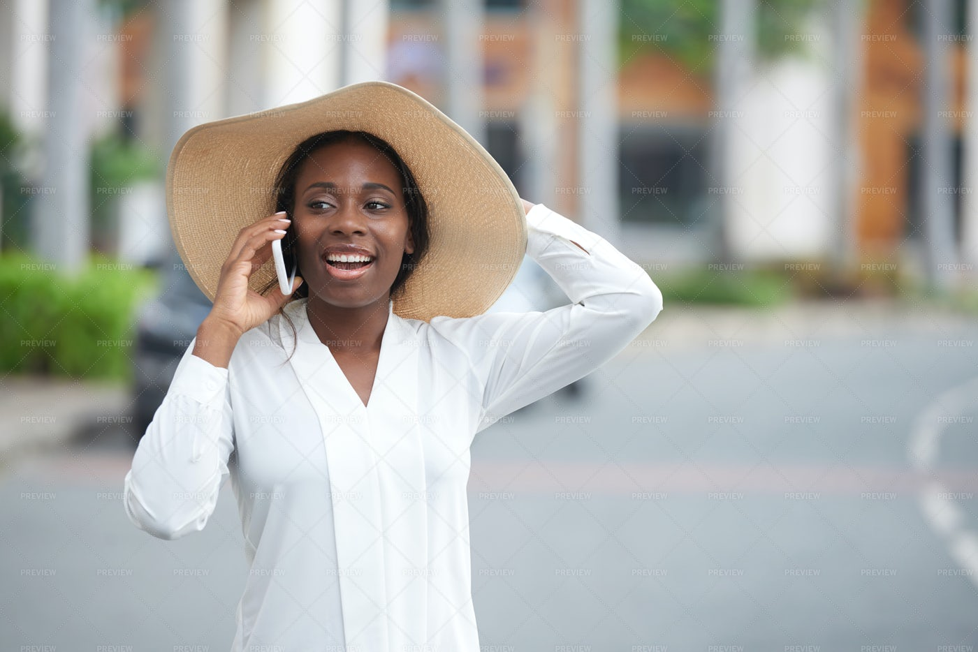 Pretty Cheerful Woman: Stock Photos