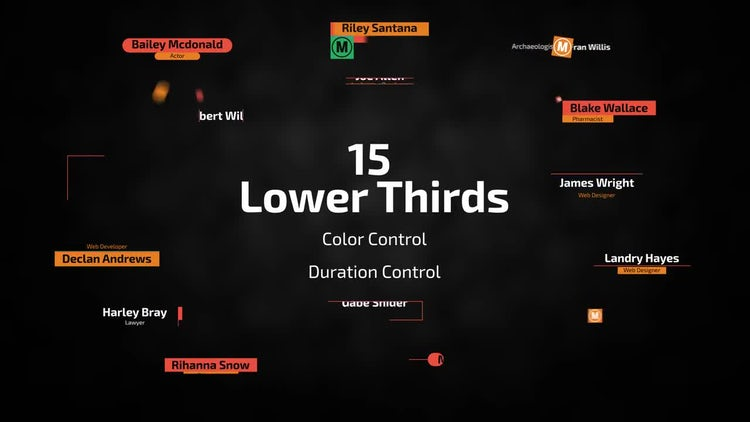 15 Lower Thirds: After Effects Templates