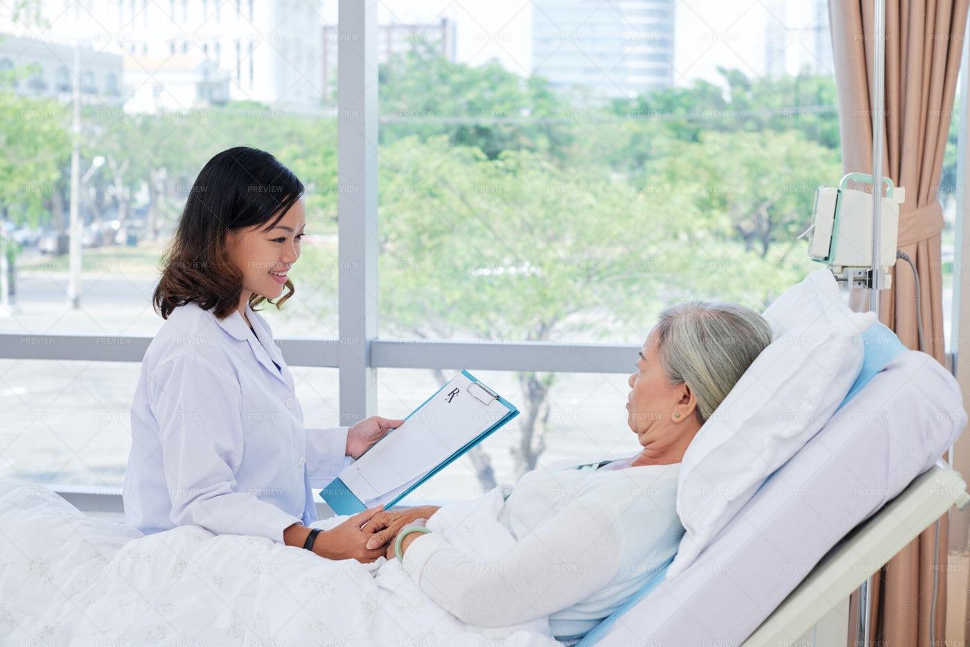 Doctor Explaining Prescription: Stock Photos
