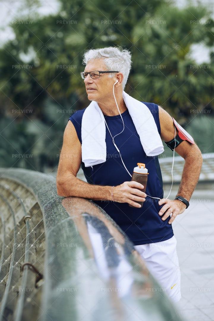Aged Jogger: Stock Photos