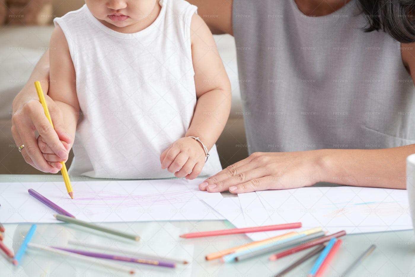 Drawing Kid: Stock Photos