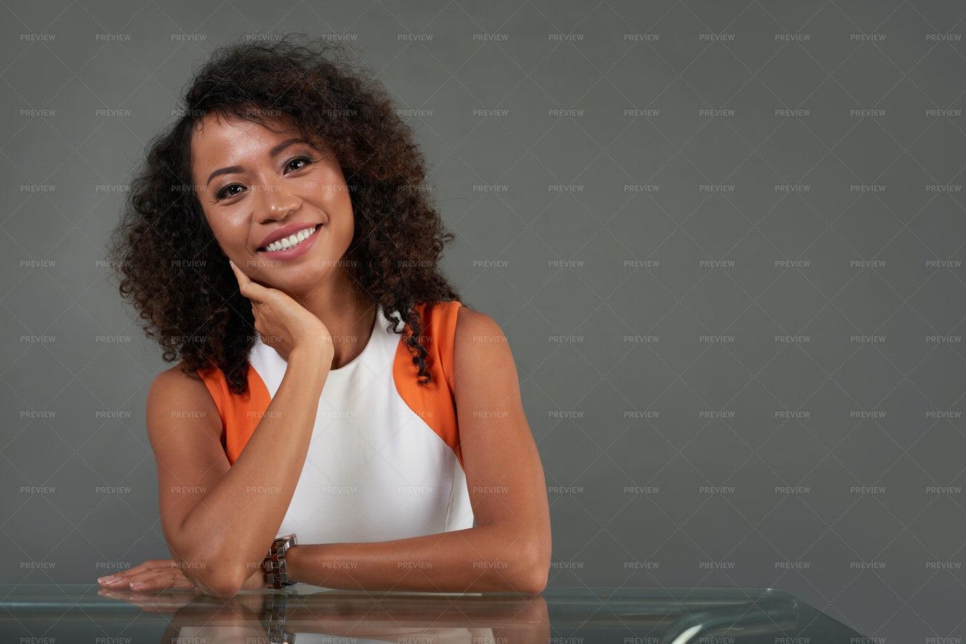 Happy Pretty Woman: Stock Photos