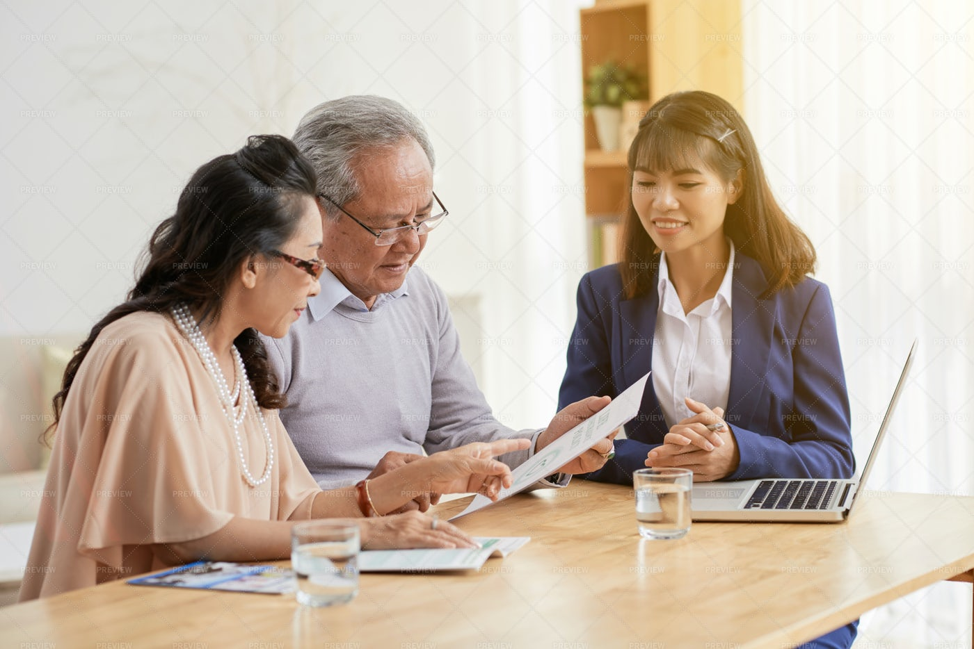 Studying Contract With...: Stock Photos