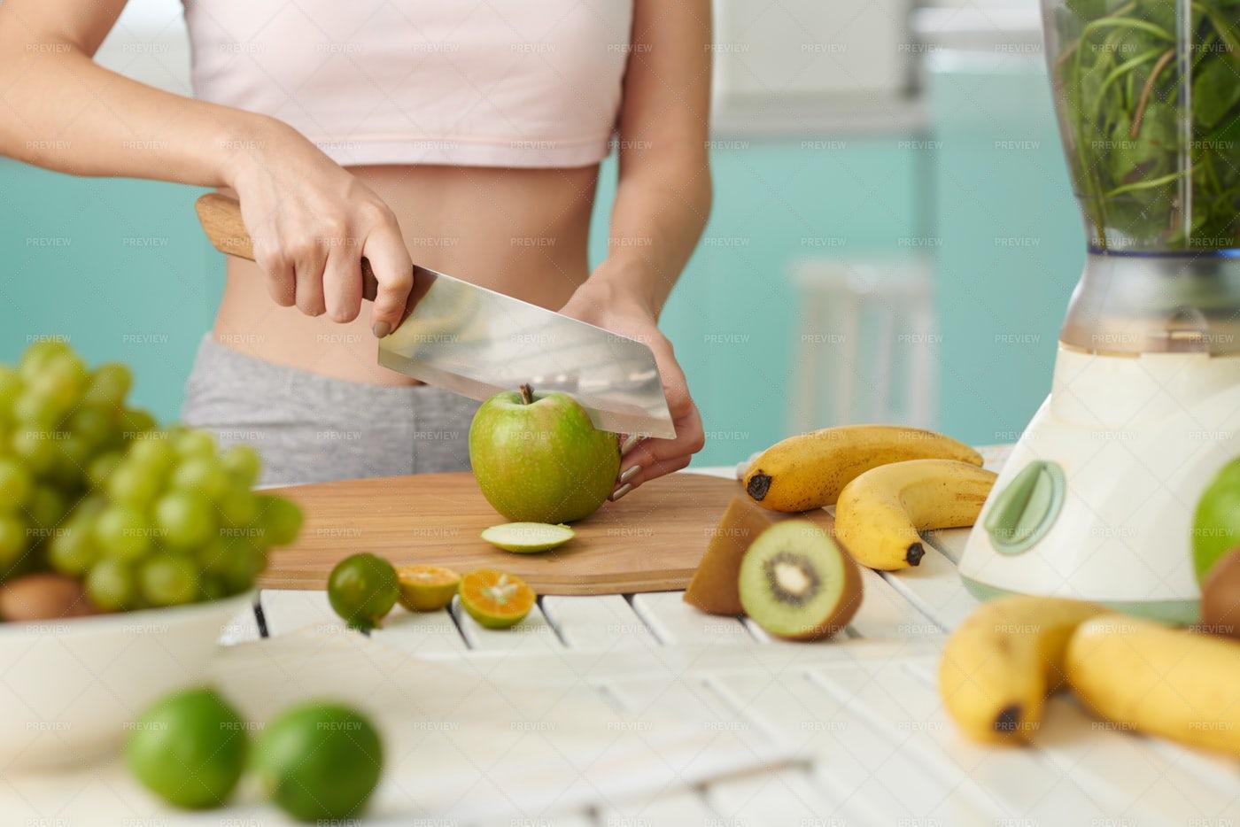 Cutting Fruits: Stock Photos