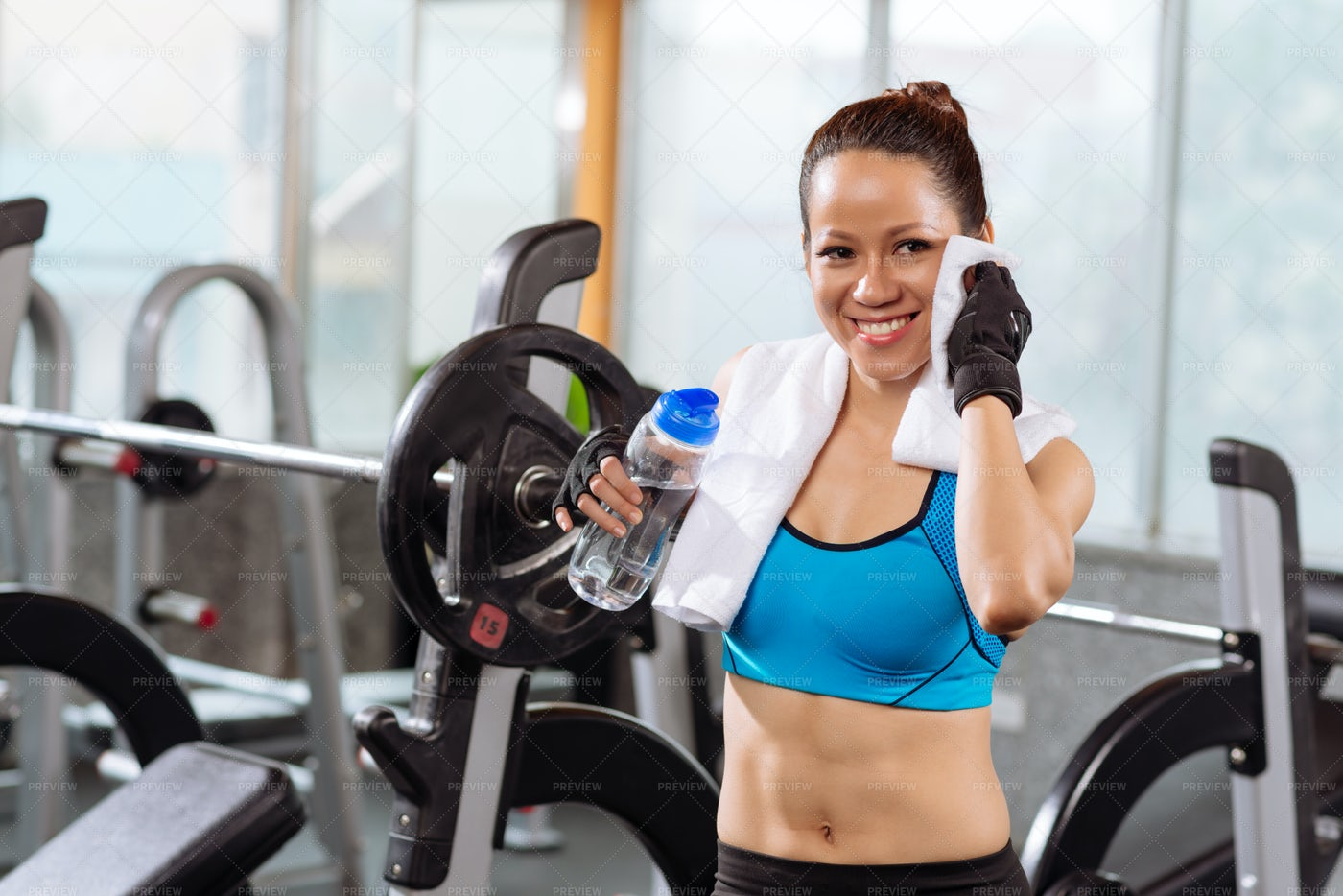 Wiping Out Sweat: Stock Photos