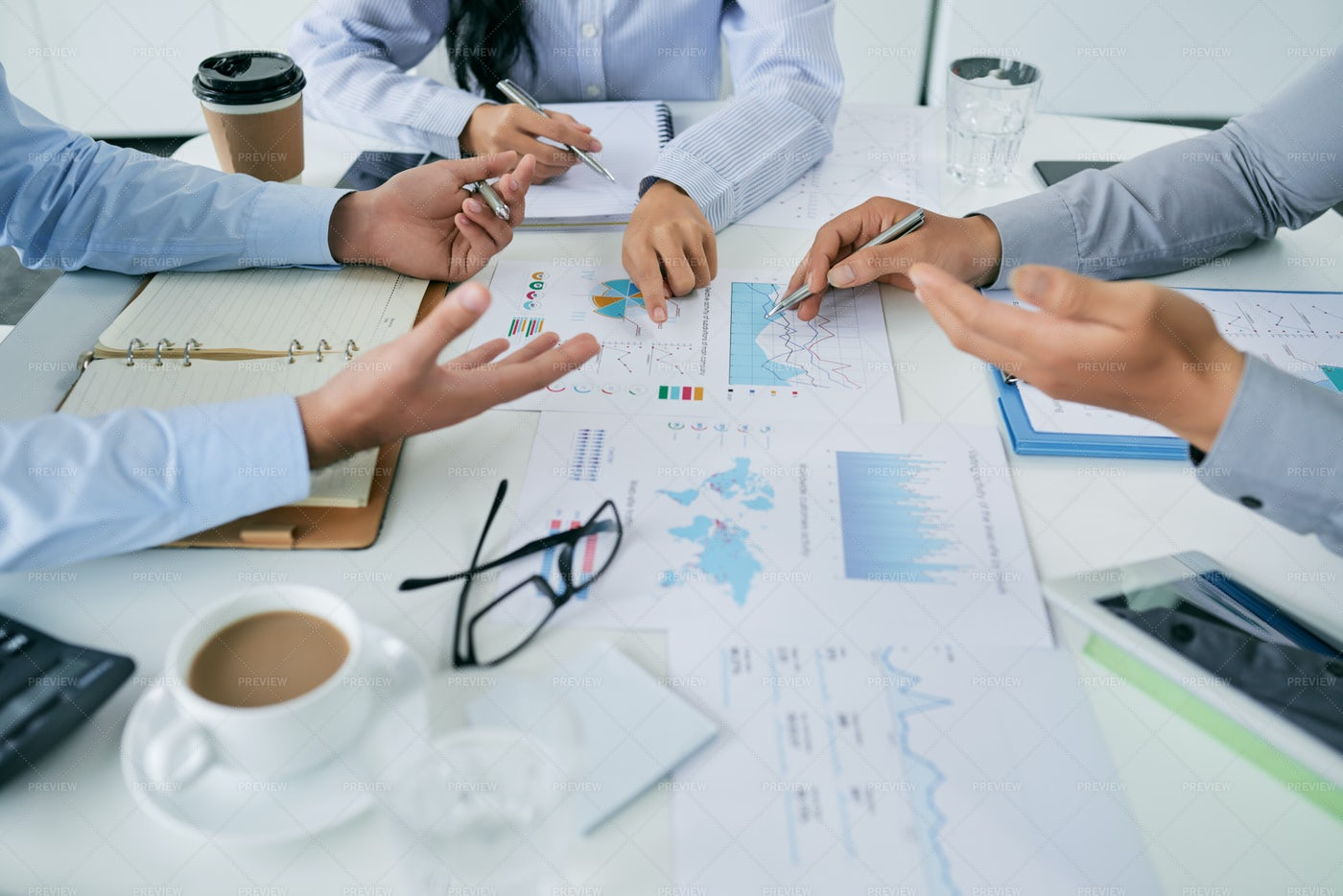 Conflict About Financial Data: Stock Photos