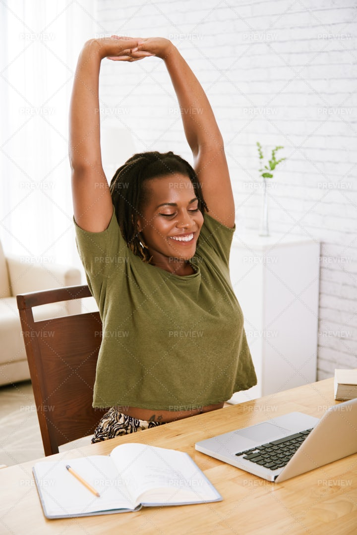 Stretching Young Woman: Stock Photos