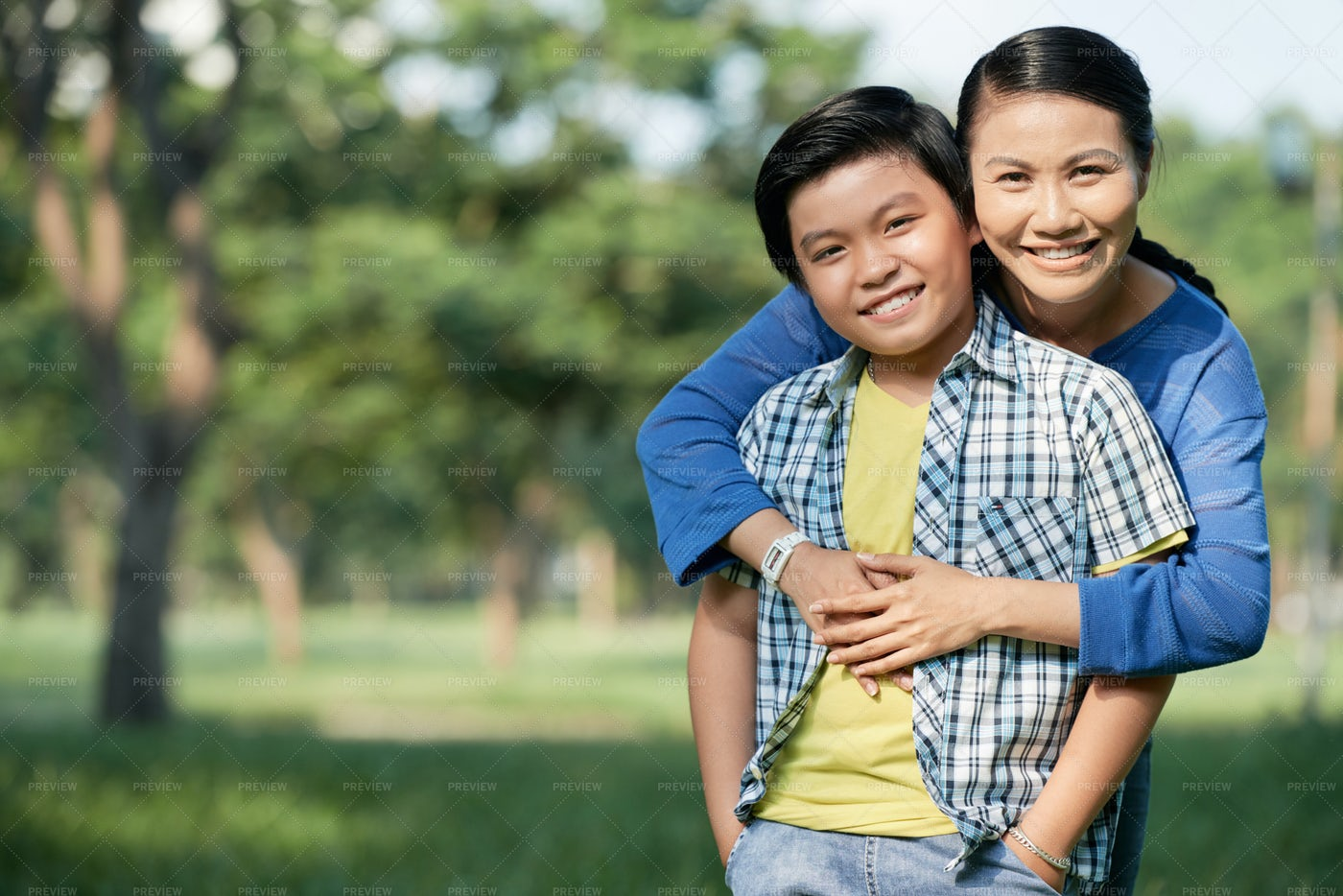 Spending Day With Mom At Public...: Stock Photos