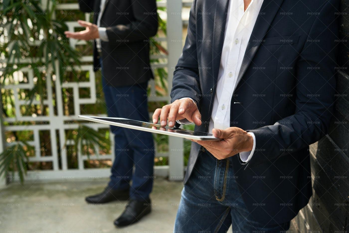 Businessman With Digital Tablet: Stock Photos