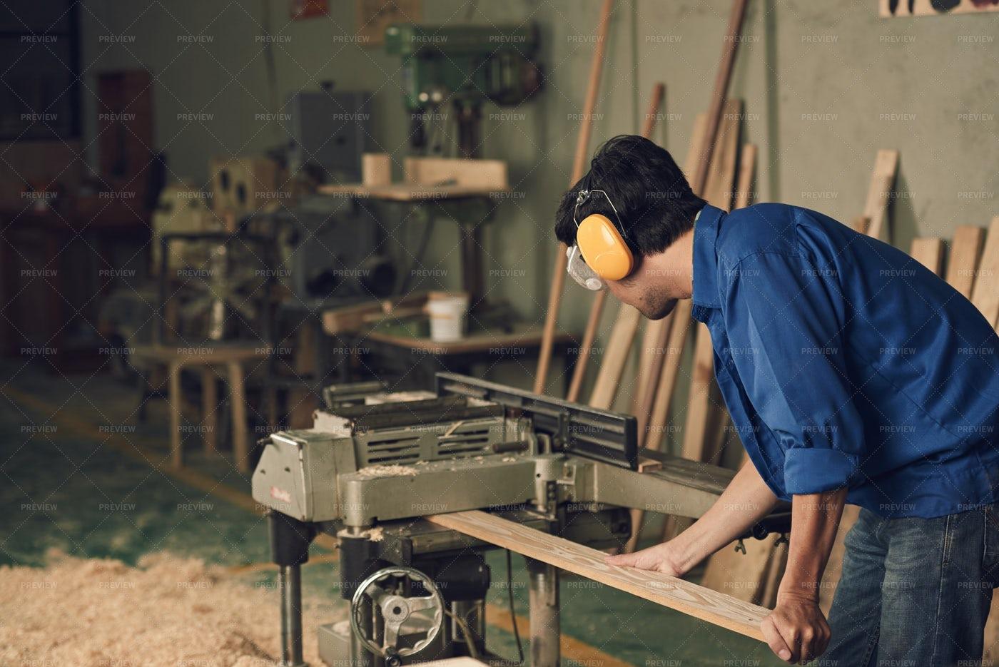 Carpenter At Work: Stock Photos