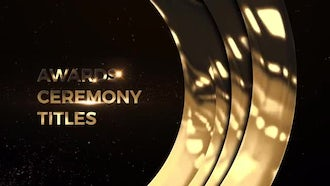 Awards Ceremony Titles: Premiere Pro Templates