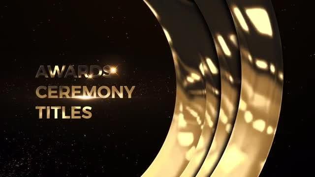 Awards Ceremony Titles: Premiere Pro Templates
